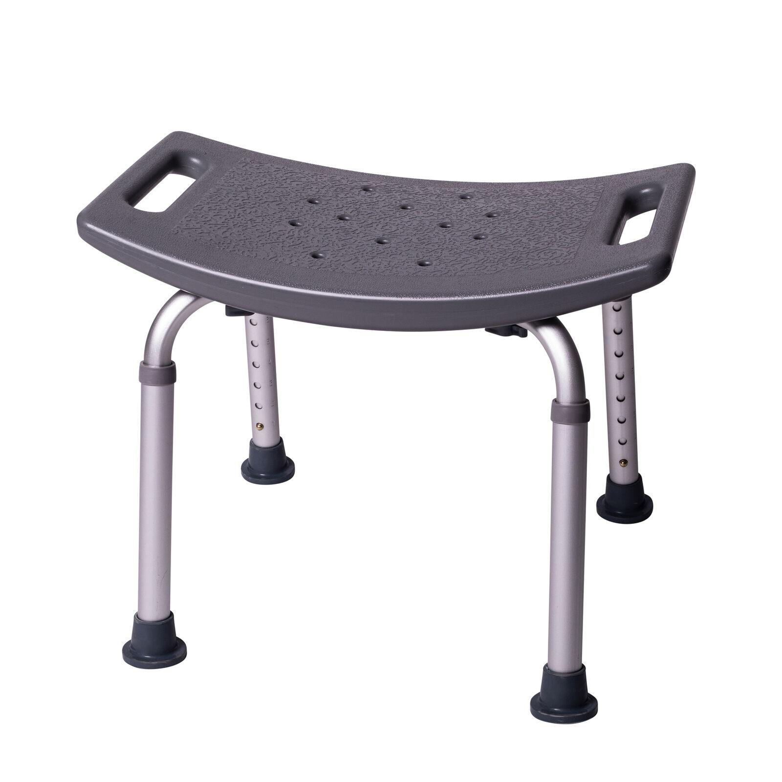 ONVAYA Badhocker   grau   150 kg   Duschhocker höhenverstellbar   Badestuhl