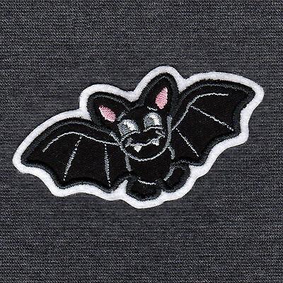 Fledermaus Für Halloween (0200 Aufnäher Fledermaus ♥ Applikation für Halloween Karneval Fasching ♥ Patch)