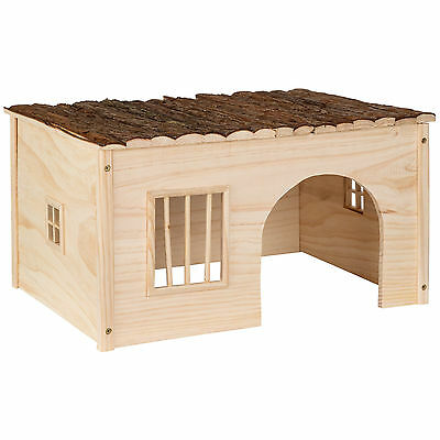 Maison pour rongeurs abri refuge petit animal bois hamster lapin chinchilla L