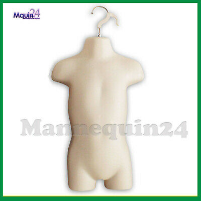 Toddler Torso Hanging Mannequin - Flesh Kids Dress Form  Hanger