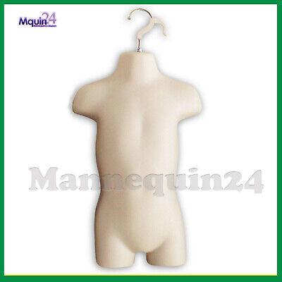 Toddler Torso Hanging Mannequin - Flesh Kids Dress Form  Hanger