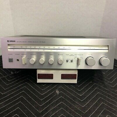 YAMAHA CR-240 VINTAGE STEREO RECEIVER - SERVICED - CLEANED - TESTED