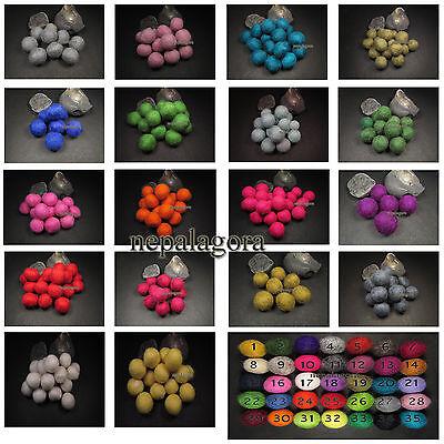 x Nursery pom pom wool felt balls 2cm DIY garland craft Christmas wholesale ()