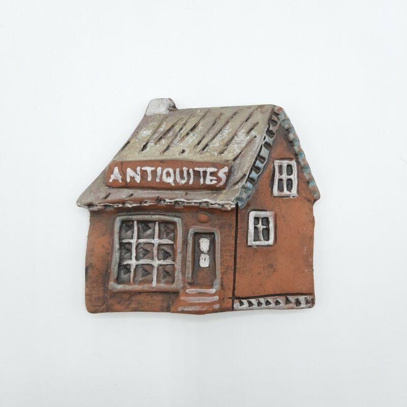 "Studio Art Pottery Wall Plaque Antiquities House 4.5"" x 4"""