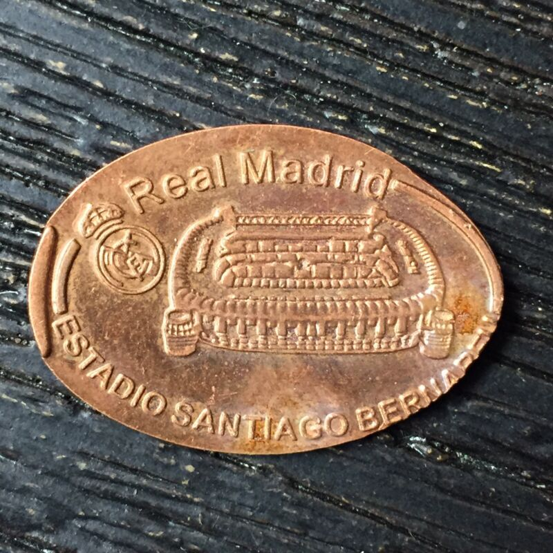 Real Madrid Copper Smashed pressed elongated penny P1843