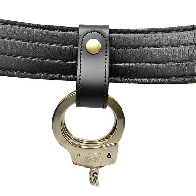 Perfect Fit Handcuff Strap Brass Snap Leather Police Corrections Duty Belt Gear