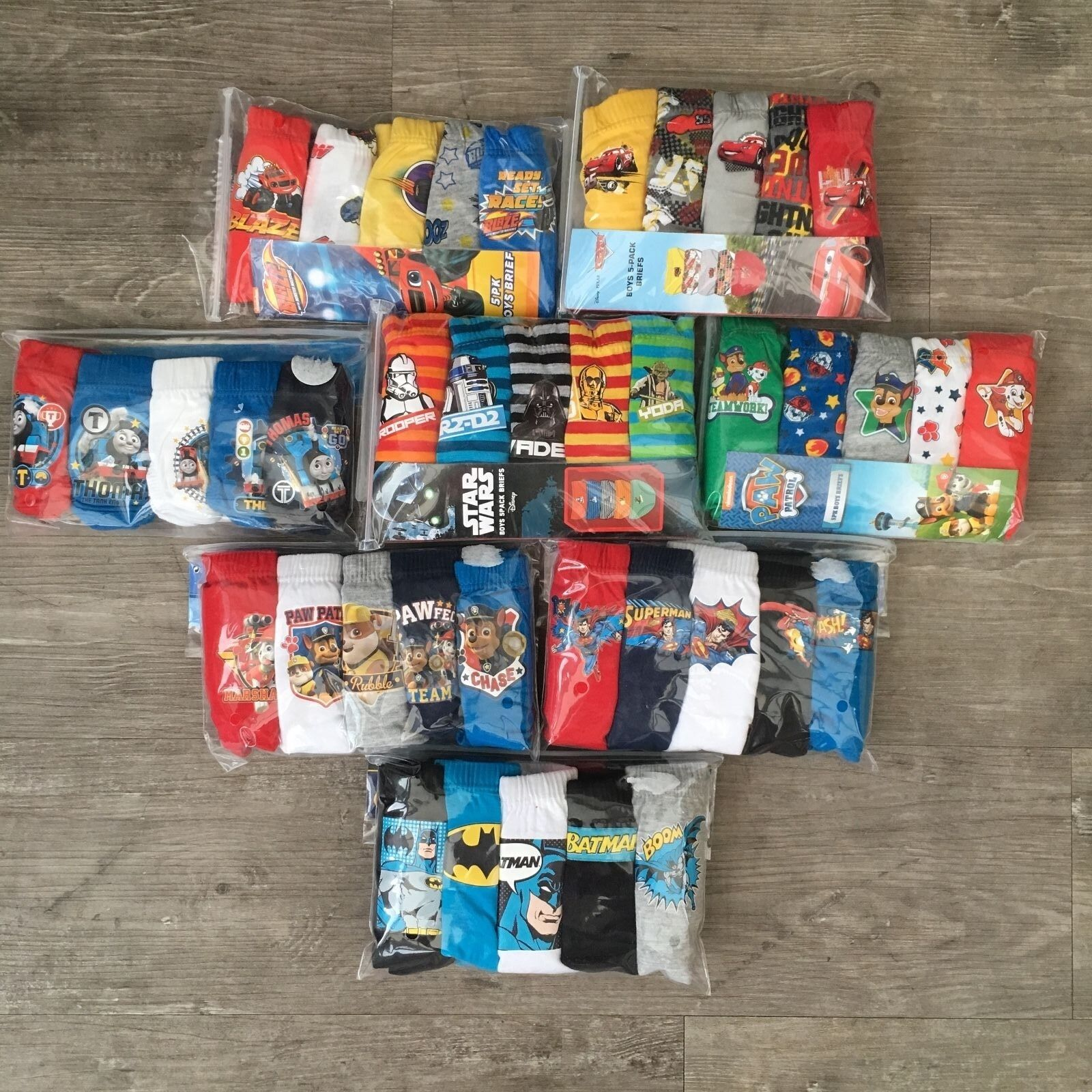5 x Pairs Boys Super Mario Toy Story Pokemon Pants Briefs Ba