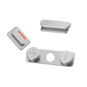 iphone 4s tasten set power standby mute volume laut leise button stummschalter ebay. Black Bedroom Furniture Sets. Home Design Ideas