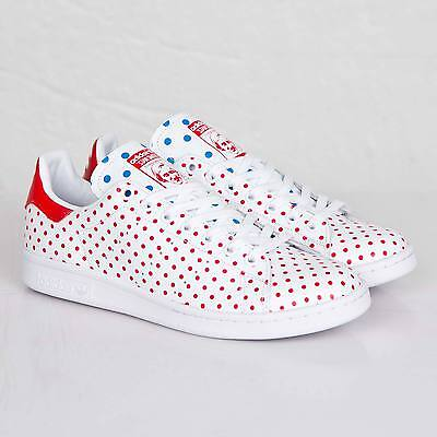 Adidas Originals Pharrell Williams Stan Smith Small Polka Dot B25401 White Shoes