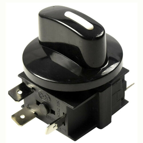 HQRP Heavy-Duty Rotary Switch 4-Position 3-Speed 120-250V 15A Fan Speed Selector