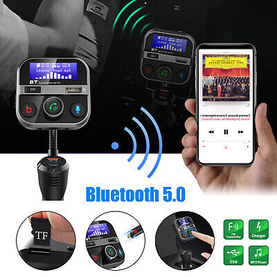 Bluetooth In-Car Wireless FM Transmitter MP3 AUX Radio Adapter Kit 3 USB Charger