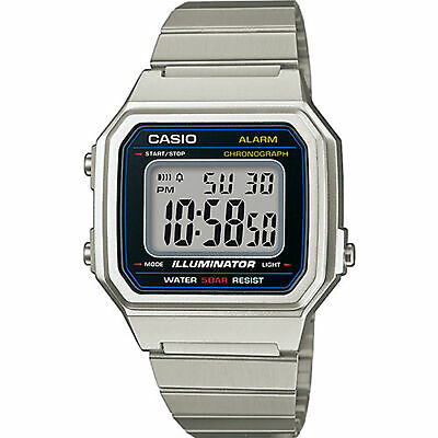 Casio Collection Retro Quartz Digital LCD Dial Silver Watch B650WD-1AEF RPP £34