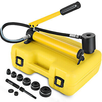 10 Ton Hydraulic Knockout Punch 12-2 6 Dies Electrical Conduit Hole Cutter