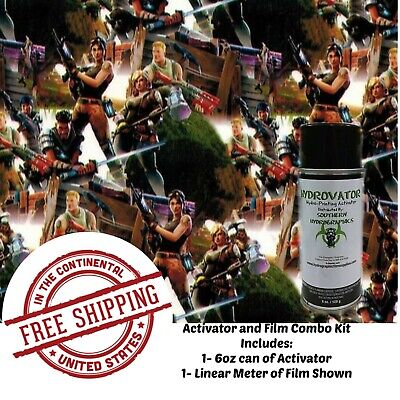 Hydrographic Dip Kit 6oz Activator Linear Meter Of Hydrographic Film Toy Soldier