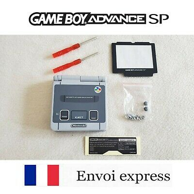 Coque GAME BOY ADVANCE SP SNES edition NEUF NEW + tournevis -...