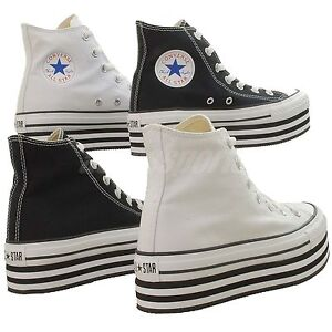 Converse-Chuck-Taylor-Platform-Hi-Classic-Casual-Shoes-Black-White-Select-1
