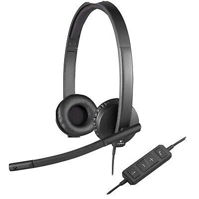 Logitech H570e USB Stereo Headset - Black (981-000574)