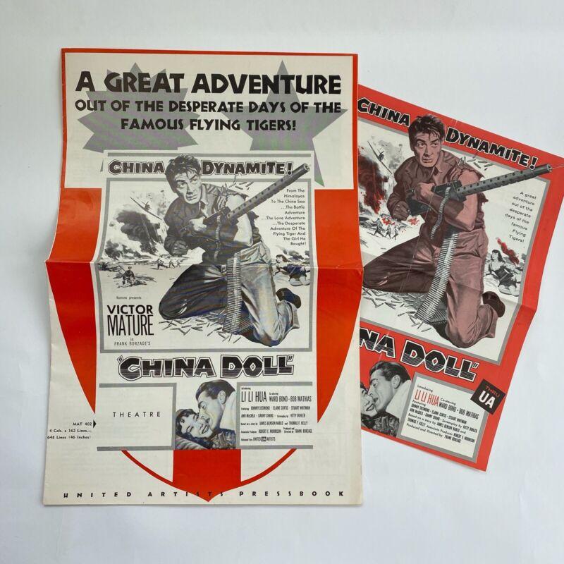 Vintage Movie Pressbook Trade Ad China Doll 1958 Victor Mature Ward Bond Li Hua