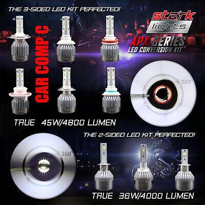 Stark APX 45W 4800LM LED Motorcycle Headlight Kit Bulb or Bulbs 6000K White (A)