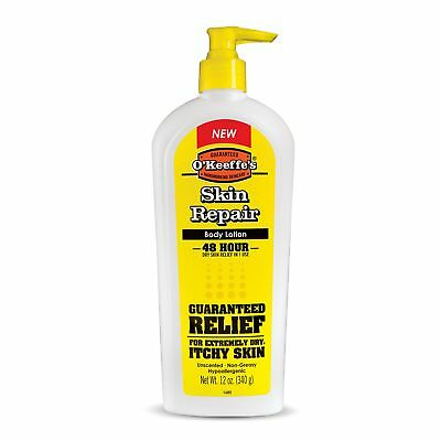 O'Keeffe's Skin Repair Body Lotion and Dry Skin Moisturizer, Pump Bottle, 12 oz Body Moisturizing Lotion Pump