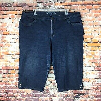 Faded Glory Capri Jeans - Faded Glory Womens Size 24W Capri Dark Wash Denim Jeans