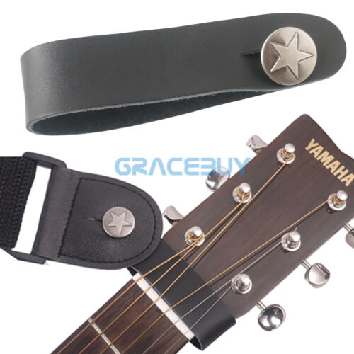 Guitar Genuine Leather Strap Hook Button for Acoustic/Folk/C