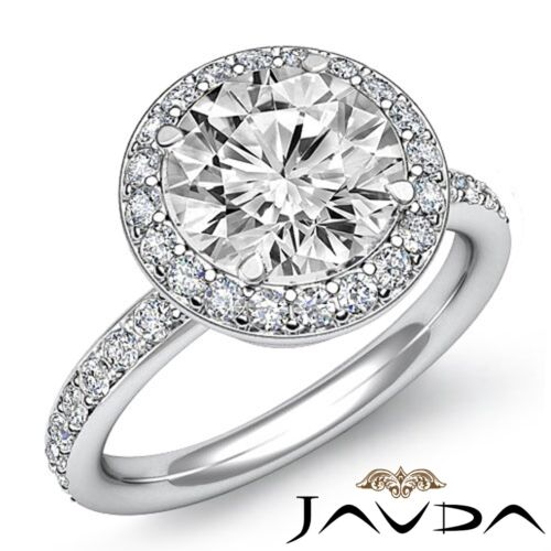 1.53ct Genuine Round Diamond Engagement Ring GIA Certified F VS2 14k White Gold