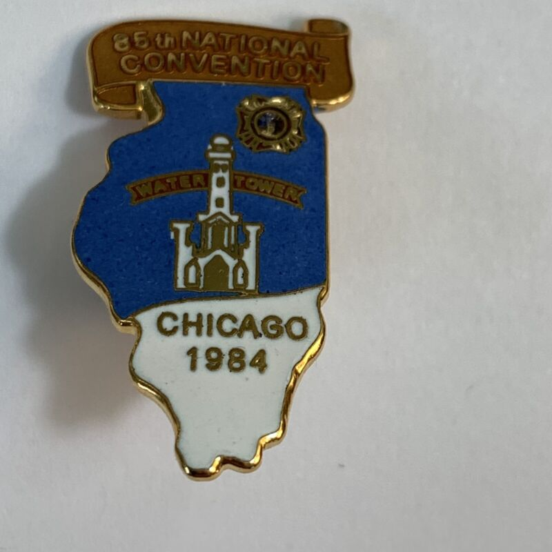 Vintage Lapel Pin VFW Veterans of Foreign Wars 1984 National Convention Chicago