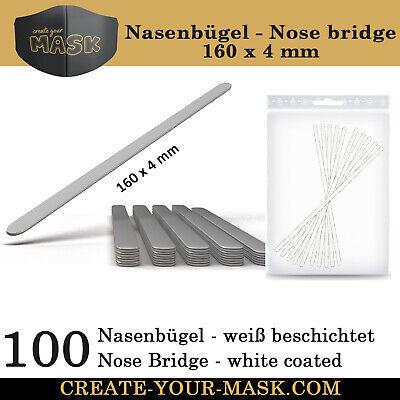 100 Nasenbügel / Metallstab für Mundschutz Maske - Nasen-Mund-Bedeckung - TOP