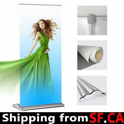 33.5x 70-92 Packdeluxe Retractable Roll Up Banner Aluminum Standadjustable