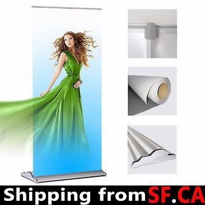 63x70-96 Packdeluxe Retractable Roll Up Banner Aluminum Standadjustable