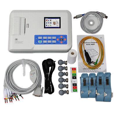 Digital 3-channel Electrocardiograph Ecgekg Machine 12 Lead Pc Software Ecg300g
