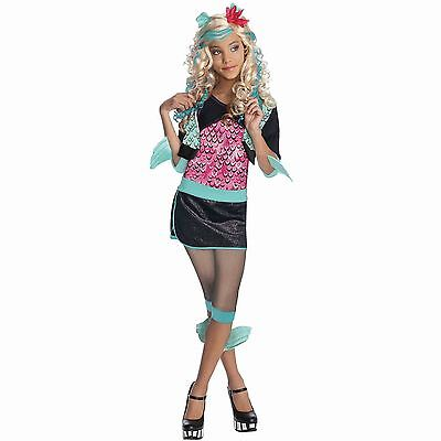 Girls Lagoona Blue Costume Monster High Halloween Fancy Dress Child Kids S M L