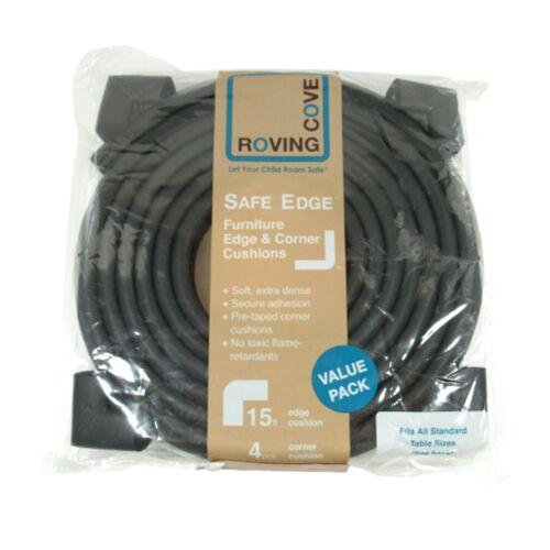 Roving Cove BLACK Safe Edge Furniture Edge & Corner Cushions Value Pack 15ft NEW