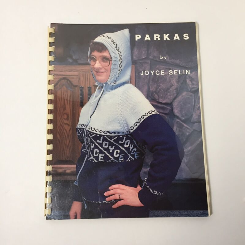 Parkas Joyce Selin Machine Knittting Pattern Book Hooded Sweater