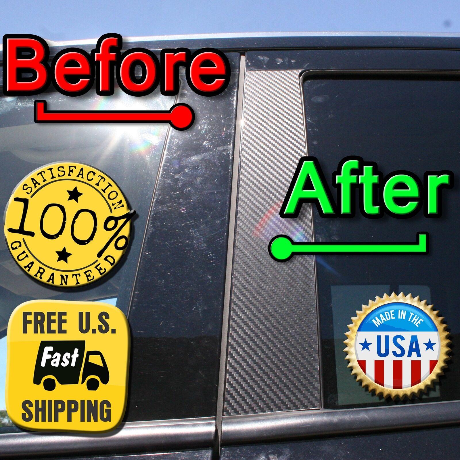 5dr Hatch BLACK Pillar Posts for Mazda 3 04-09 6pc Set Cover Door Trim Window