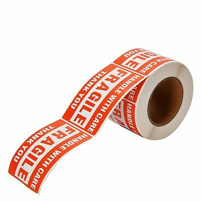 3 Roll 3x5 Fragile Shipping Stickers Handle With Care Thank You Warning Labels