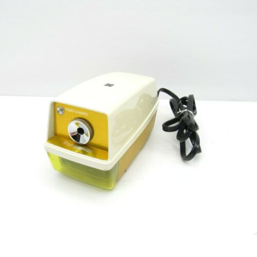 Vintage 1970s Yellow Panasonic Point-O-Matic Electric Pencil Sharpener KP-33N