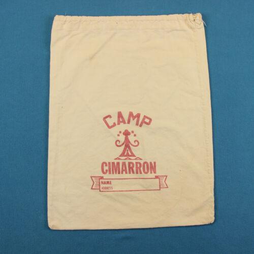 40s CAMP CIMARRON Vintage Bag ~ White Cotton T Shirt Camp Fire Girls Oklahoma
