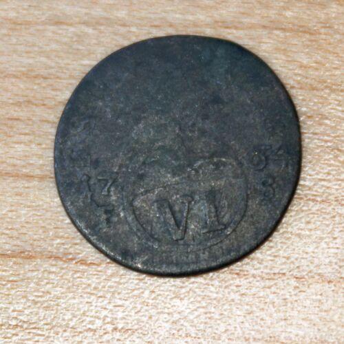 1764 German States SAXE-WEIMAR-EISENACH 6 Pfennig Silver Anna Amalia