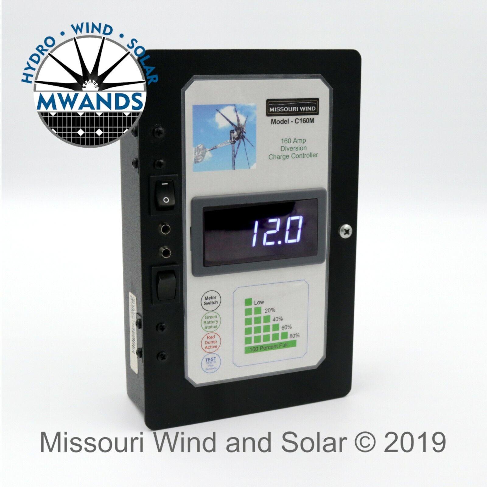 160 Amp 3600 Watt Hybrid Charge Controller For 12 24 Volt