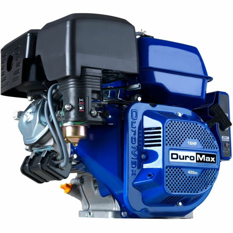 """DuroMax XP16HPE 420cc 1"""" Recoil/Electric Start Horizontal Gas Powered Engine"""