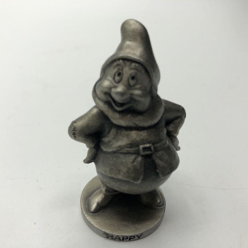Happy Dwarf from Snow White Walt Disney Fine Pewter Schmid USA 0110