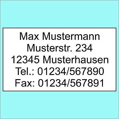 1300 Adressetiketten Adressaufkleber Etiketten Aufkleber m. Wunschtext bedruckt
