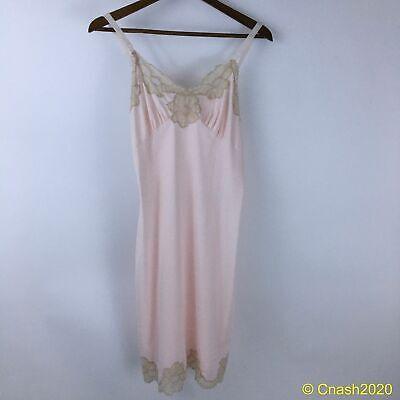 Vintage 1960 Aristocrat Pink & Nude Slip