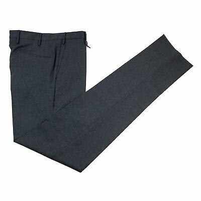 NWT $400 Boglioli Charcoal Grey Wool Twill Flat F. Dress Pants +Hanger 46EU/30W