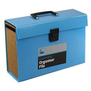 24 Pocket Expanding Box File Organiser A4 Documents Paper Foolscap Folder Case