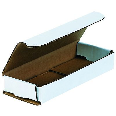 50 Of 6.5 X 2.5 X 1 Small White Cardboard Carton Mailer Shipping Box Boxes