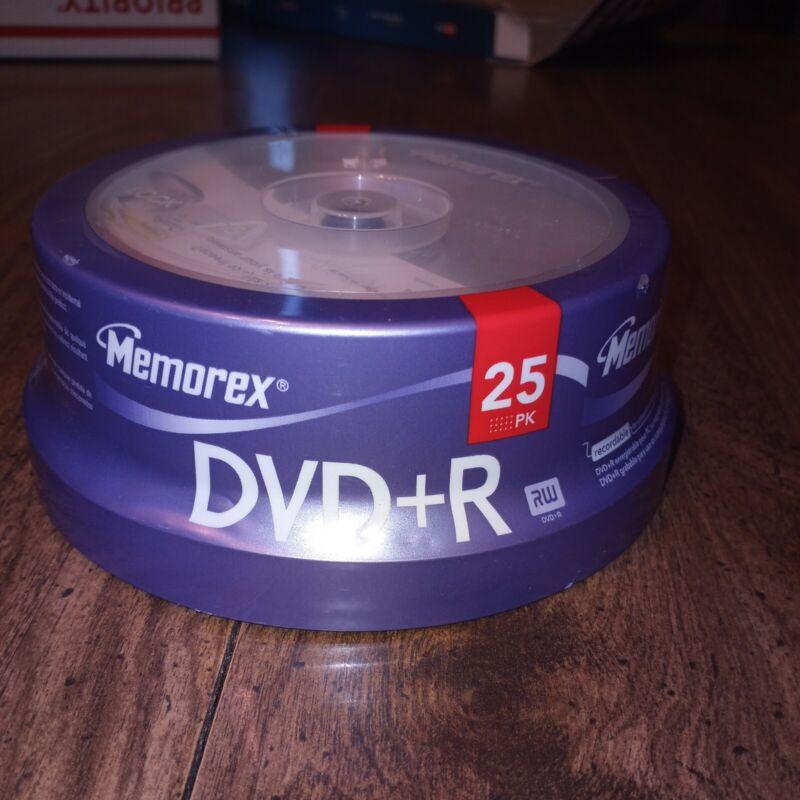 Memorex DVD+R Writable Discs 25 Pack Unopened New Old Stock Sealed