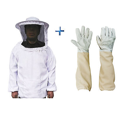 Beekeepers Schutzanzug Imkerjacke Hut Schleier Imker Jacke Imkerei Handschuhe DE